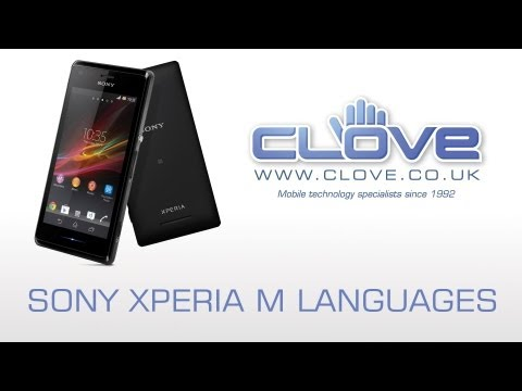 Sony Xperia M Languages