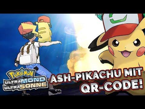 Pokemon Ultrasonne Ultramond | Pikachu mit Ash Pikachium Z mit QR Code!