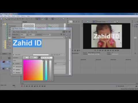 Sony Vegas Pro - Cara Menambahkan Teks Kedalam Video
