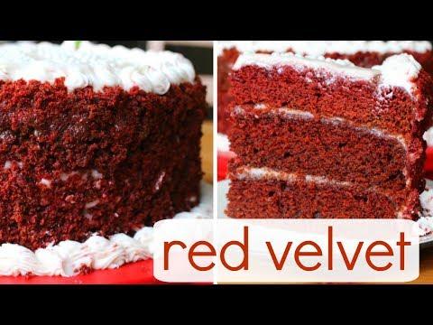 Vegan Red Velvet Cake w/ Cream Cheese Frosting