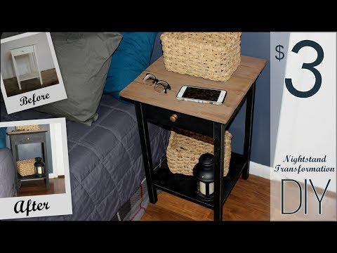 $3 DIY Nightstand Transformation - Farmhouse Style On a Dime
