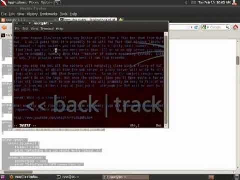 BackTrack with Slowloris DoS Attack