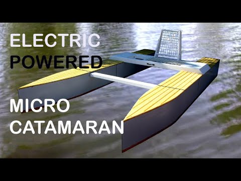 Wooden Micro Catamaran - build (2) and first launch