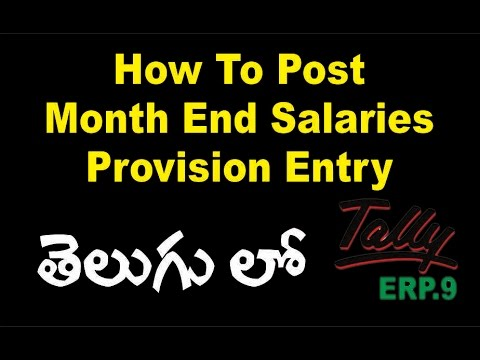 How To Post Month End Salaries Provision Entry | Salary Provision Entry