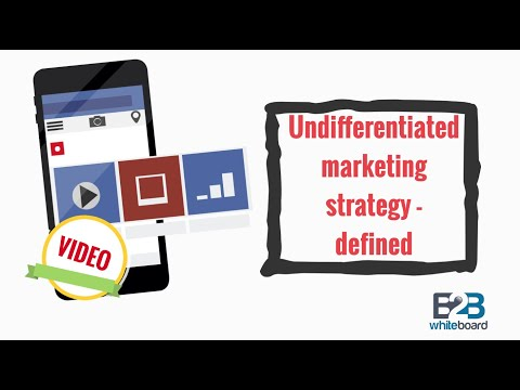 Undifferentiated marketing strategy - defined