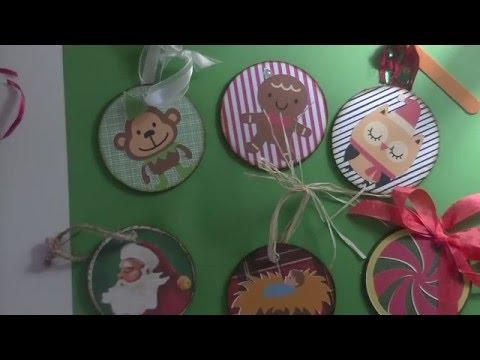 Cricut Explore Wooden Ornaments