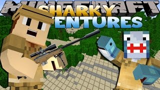 Minecraft Adventure - Sharky and Scuba Steve - SAFARI w/ Spongebob and Patrick