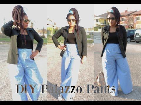 DIY HIGH WAIST PALAZZO PANTS || EASY SEWING