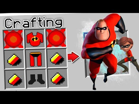 CRAFTING THE INCREDIBLES IN MINECRAFT?!
