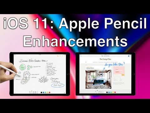 iOS 11: Apple Pencil Enhancements