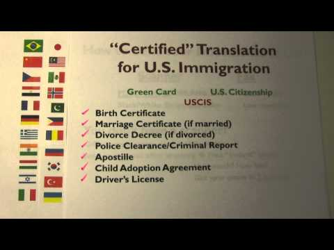 Green Card & U.S. Citizenship - Getting Your Certified Translation for U.S. Immigration