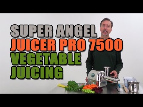 Super Angel Juicer Pro 7500 Vegetable Juicing