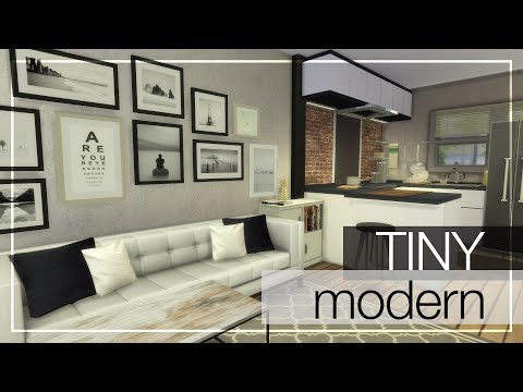 TINY MODERN HOME + CC LINKS | The Sims 4 Tiny Modern House Building