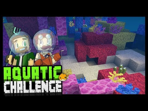 DOLPHINS, CORAL, & CURSED PANTS!? - Minecraft Aquatic Challenge - #5
