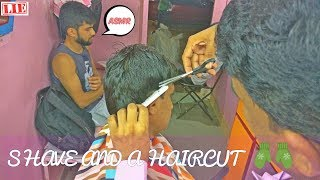Shave and a Haircut (4K) - Part 2 - Haircut | 🇮🇳 Indian Barber ASMR