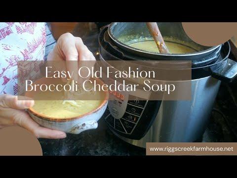 Slow Cooker Broccoli Cheddar Soup | Crock Pot Cream of Broccoli Soup