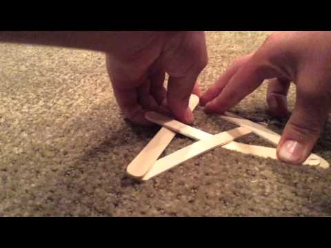How to make a boomerang Popsicle stick bomb