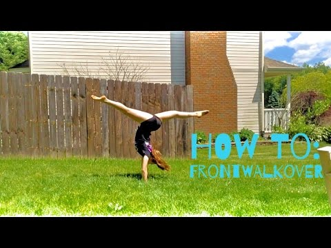 How to do a FRONT WALKOVER in ONE DAY!! | FAST AND EASY!