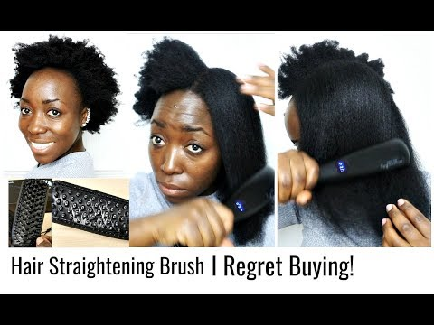 First Time Straightening My Natural Hair Ended Up Wrong With Straightening Hair Brush.
