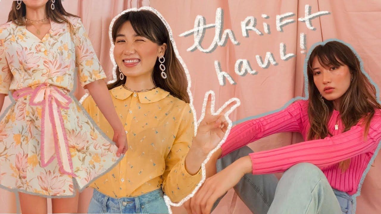 summer try-on thrift haul 🌼