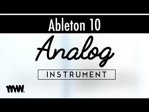 Analog // Ableton 10 Instruments