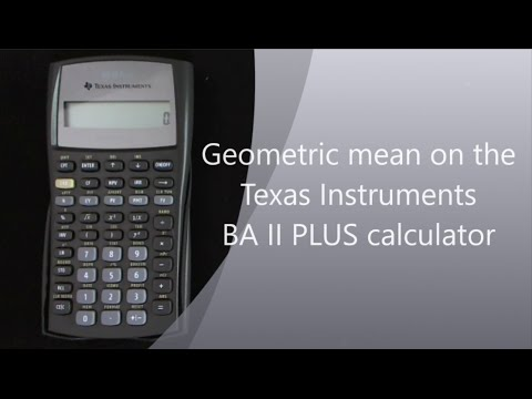 Geometric mean on the TI II Plus calculator