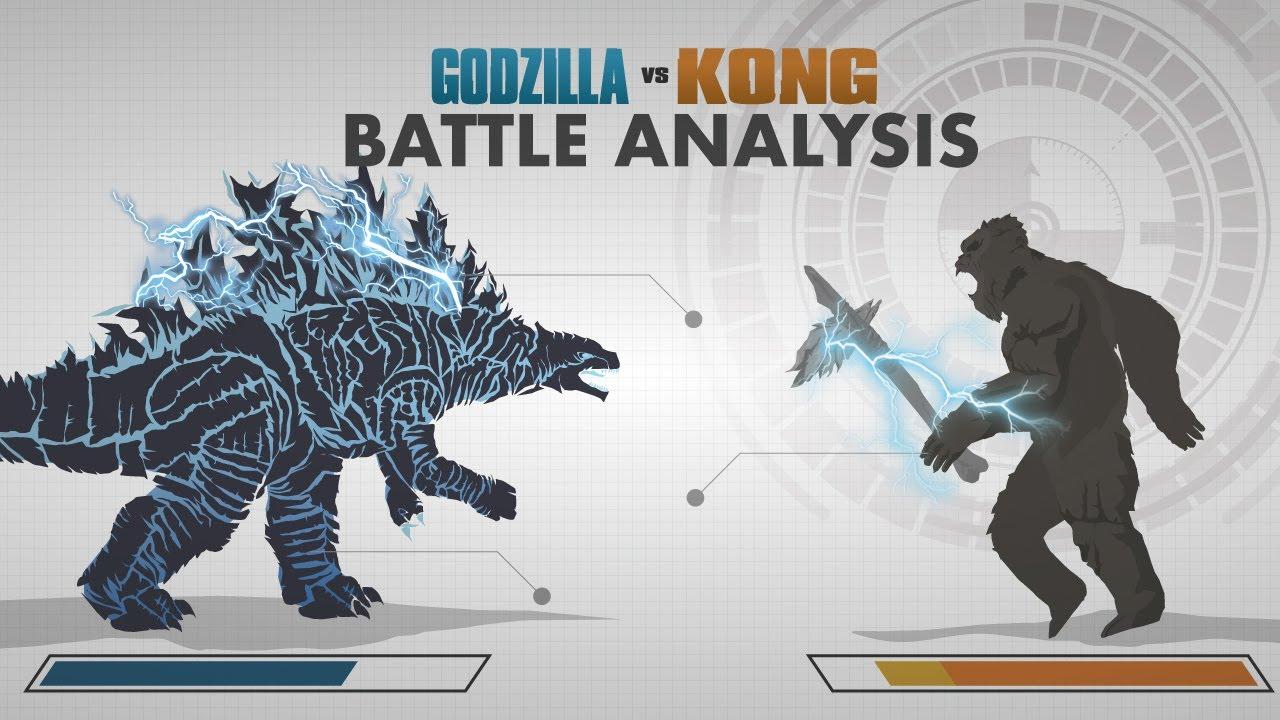 GODZILLA vs KONG 2021   Battle FACE OFF   In Depth Combat Analysis!