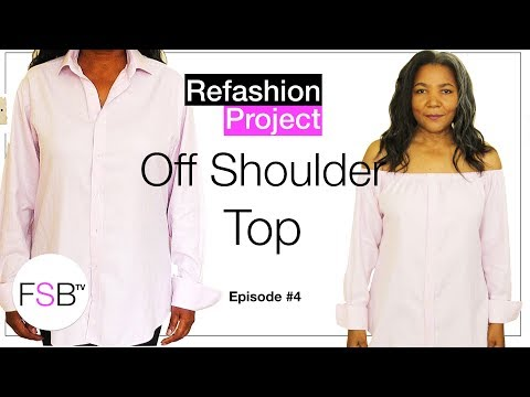 How To Make An Off The Shoulder Top | Recycle Project