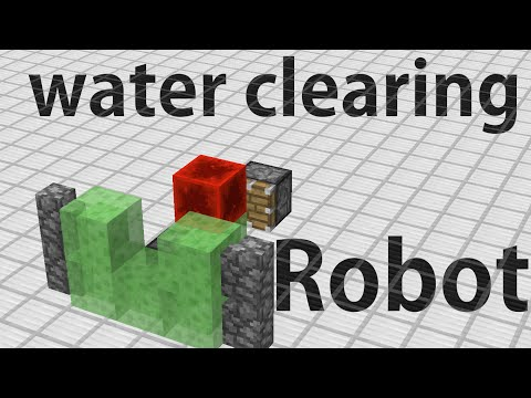 Minecraft- Water removing robot tutorial