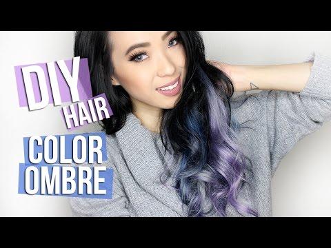 DIY Ombre Gray, Blue & Lavender Hair!