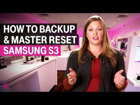 How to back up data and perform a master reset on the Samsung Galaxy S3
