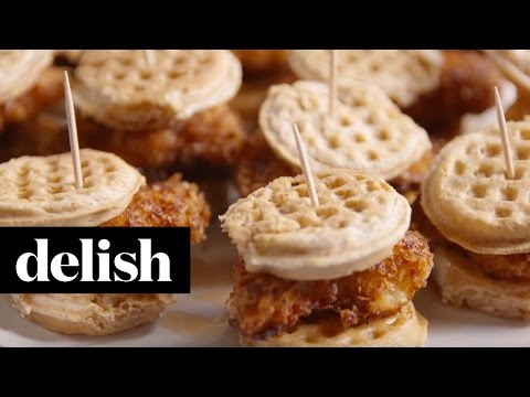 Chicken and Waffles Sliders | Delish