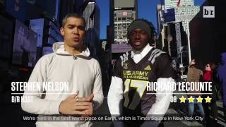 5-Star Georgia Commit Richie LeCounte Break It Down in Times Square