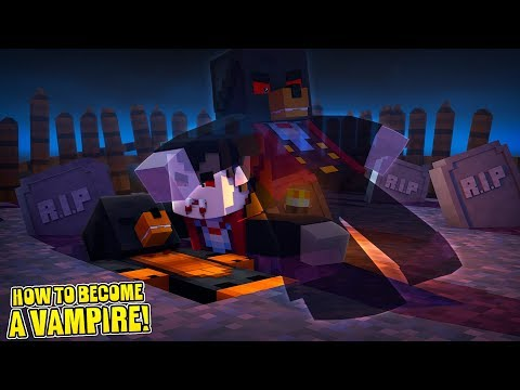 Minecraft HOW TO BECOME A VAMPIRE!! - DONUT WAS BITTEN BY A VAMPIRE!!