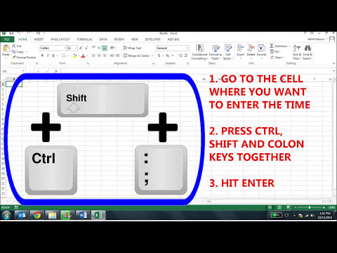 Excel Tutorial: Data-Entry How to Enter Current Date and Time