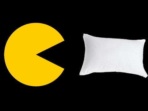 EASY! NO SEWING! How to make a PacMan-Shaped Pillow