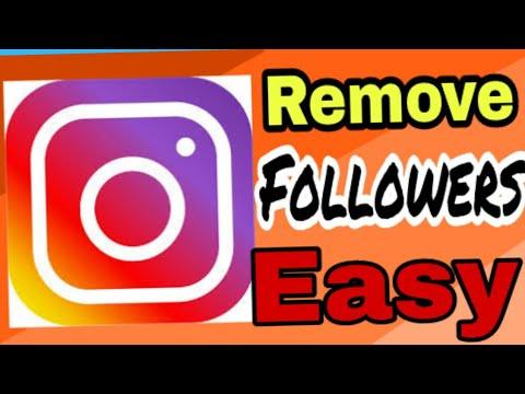 Remove instagram followers