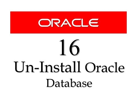 Oracle Database11g tutorials 16: How to uninstall oracle 11g from windows 7 64 bit