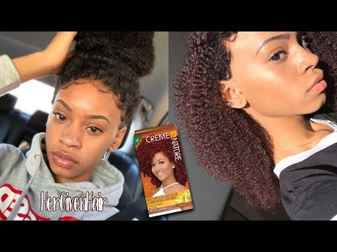 Black to Burgundy in Under 1 Hour | Creme of Nature Vivid Red (C31)