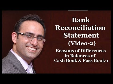 How to make Bank Reconciliation Statement-(Video-2) Reasons of Differences in Cash Book & Pass Book