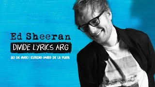 ED SHEERAN | DIVIDE LYRICS ARGENTINA