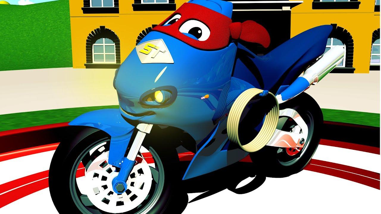Carl der Super Truck - Der Motorad Lastwagen - Autopolis 🚒 Lastwagen Zeichentrickfilme für Kinder