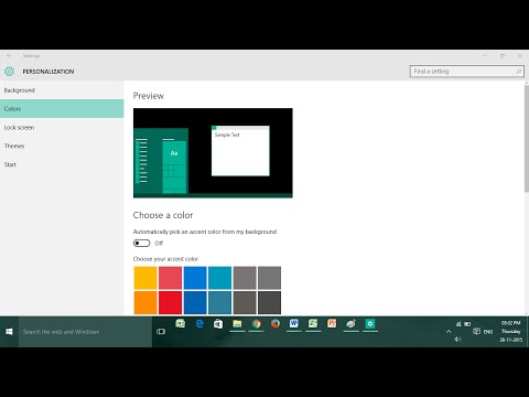 How to Change Color of Start Menu and Taskbar in Windows 8