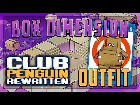 Club Penguin Rewritten - Where To Find Box Dimension Clothing Items (Box Dimension Clothes CPR)