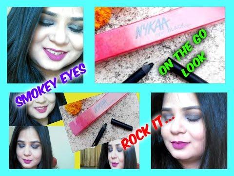 #Kajal   Get instant look change with black smokey eye   Nykaa Eyem Black kajal   Angels reborn