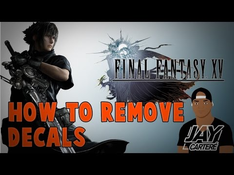 Final Fantasy XV PS4 Tutorial - How To Remove Decals On Your Car / The Regalia