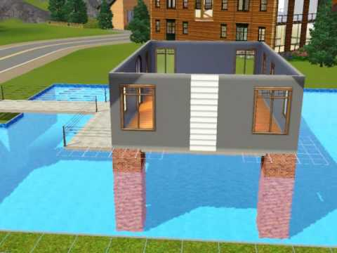 Sims3 Build a house over swimming pool tutorial