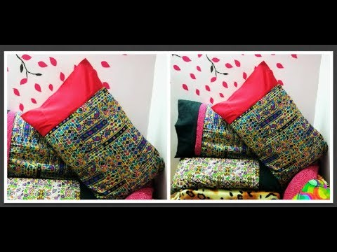 Pillow Cover Cutting & Stitching (DIY)