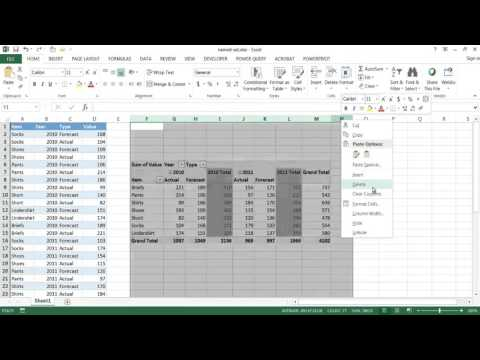 Create a Named Set in a Pivot Table