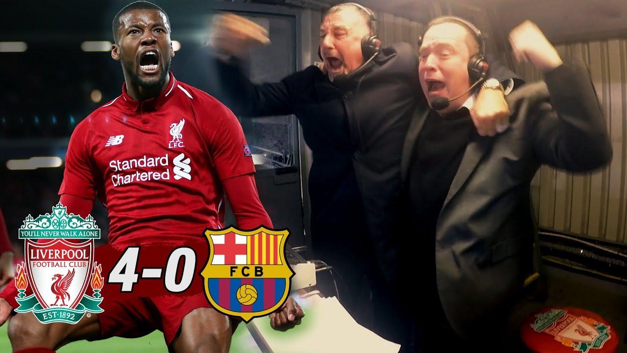 'CORNER TAKEN QUICKLY... ORIGI' | Liverpool 4-0 Barcelona: Commentator Reactions